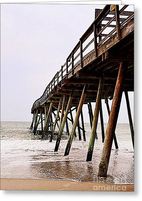 Weathered Oceanic Pier  Greeting Card
