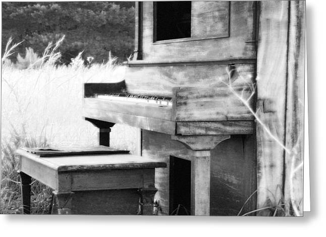 Weathered Piano Greeting Card by Mike McGlothlen