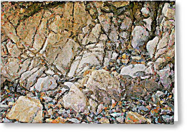 Weathered Rock Face Owlshead Greeting Card by Peter J Sucy