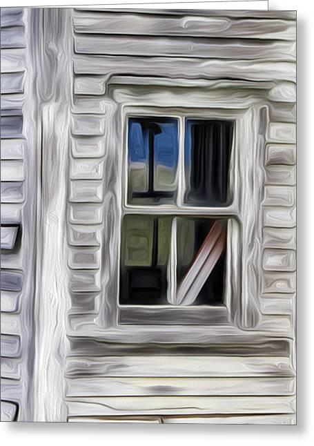 Weathered Window 2 Greeting Card
