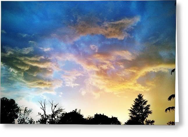 Weathering Sky Greeting Card