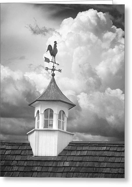 Weathervane And Clouds Greeting Card