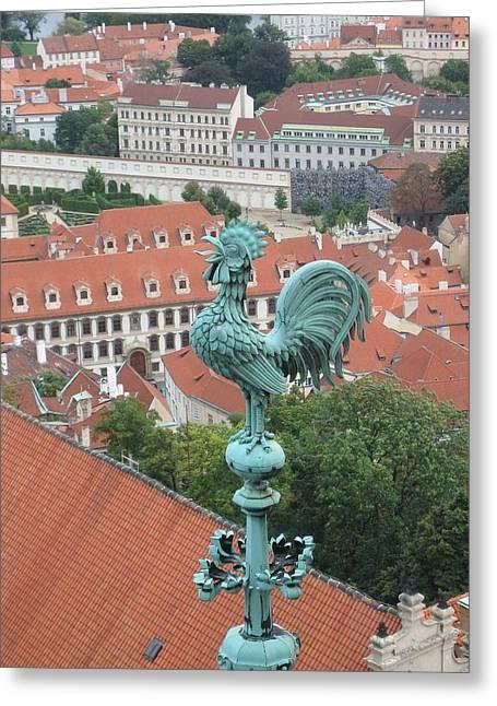 Weathervane Of Prague Greeting Card