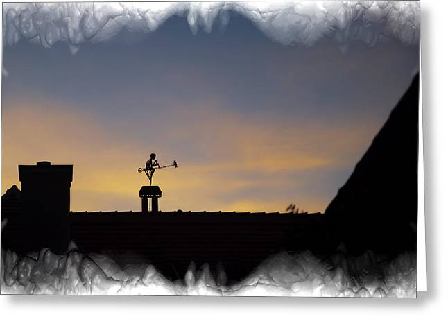 Weathervane Sighisoara Romania Greeting Card