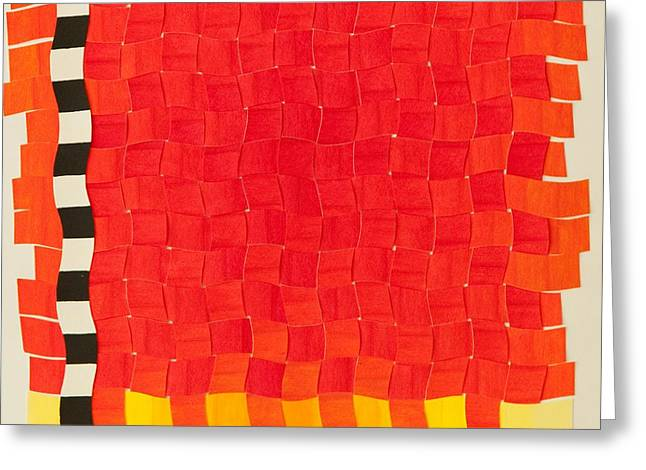 Weave #2 Sunset Weave Greeting Card by Thomas Gronowski
