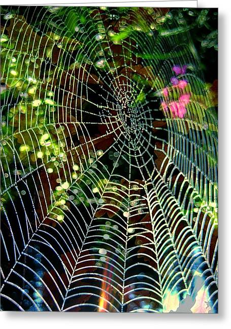 Web Of Entanglement Greeting Card by Shirley Sirois