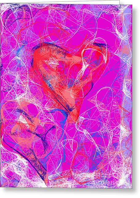 Web Of Love Greeting Card
