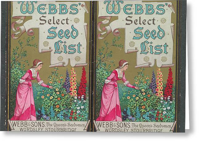 Webbs Select Seed List Greeting Card by British Library