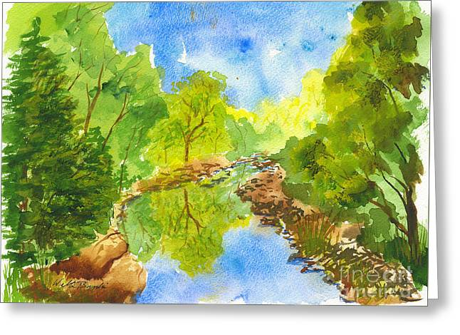 Weber River Reflection Greeting Card