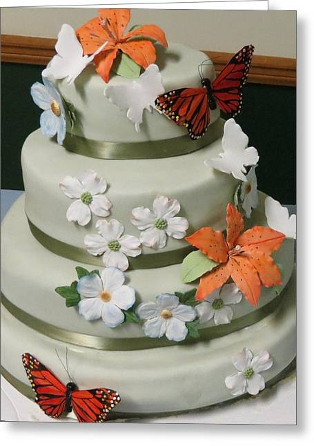 Wedding Cake For April Greeting Card by Fortunate Findings Shirley Dickerson