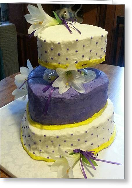 Wedding Cake For May Greeting Card by Fortunate Findings Shirley Dickerson