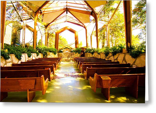 Greeting Card featuring the photograph Wedding Chapel by Joseph Hollingsworth