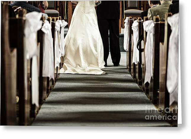 Wedding In Church Greeting Card by Elena Elisseeva