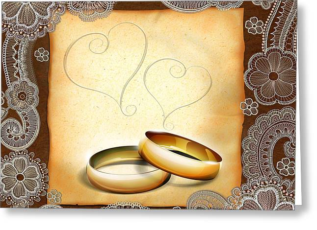 Wedding Memories V1a Classic Greeting Card by Peter Awax