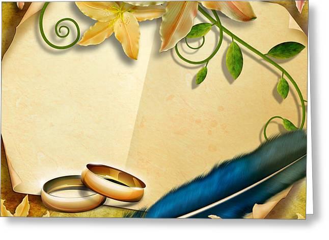 Wedding Memories V4 Natural Greeting Card by Bedros Awak