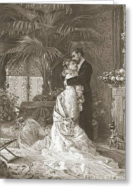 Wedding Night 1881 Greeting Card
