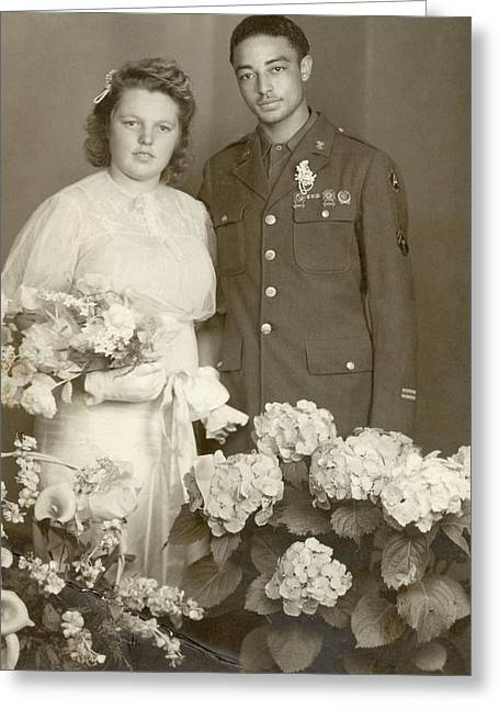 Wedding Portrait, 1945 Greeting Card by Granger