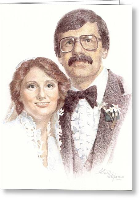 Wedding Portrait. Commission. Greeting Card