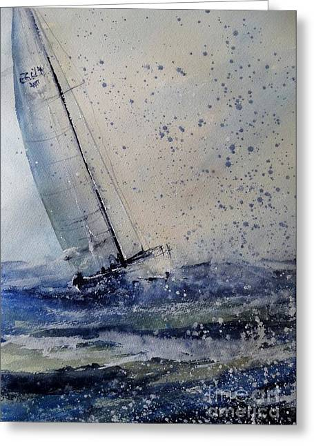 Wednesday Evening Sail Greeting Card