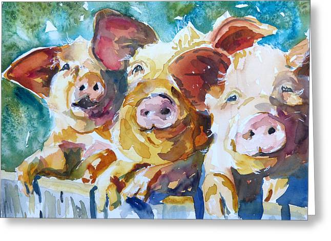 Wee 3 Pigs Greeting Card