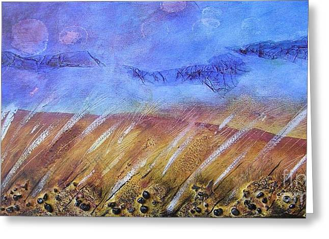 Weeds Among The Wheat Greeting Card by Jocelyn Friis