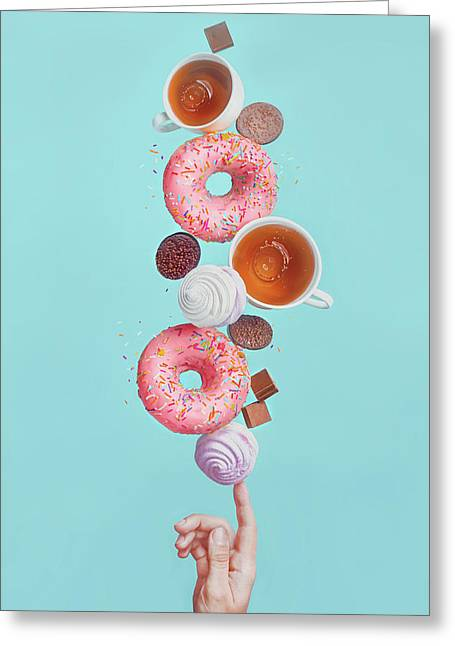 Weekend Donuts Greeting Card