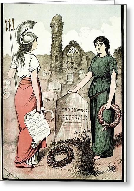 Weekly Freeman And National Press Greeting Card by British Library
