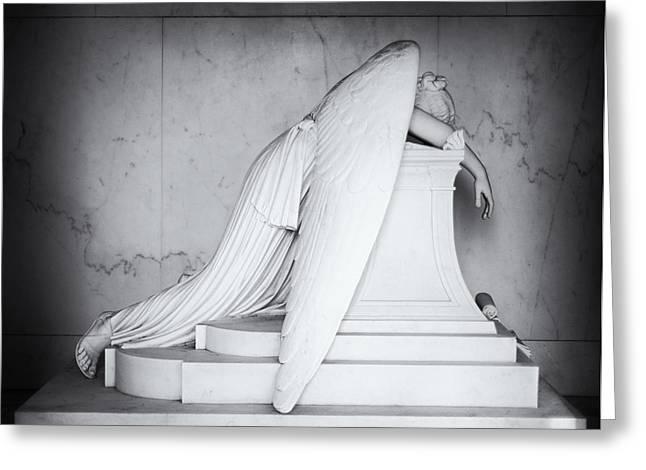 Weeping Angel 1 Greeting Card by John Gusky