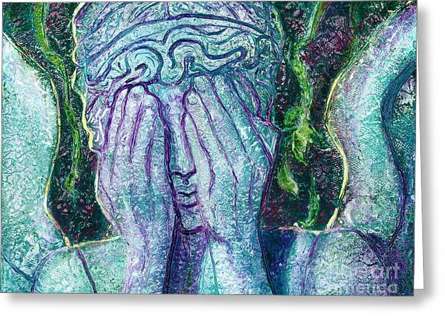 Weeping Angel Greeting Card by D Renee Wilson