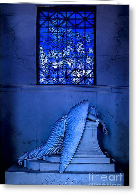 Weeping Angel Greeting Card by Jerry Fornarotto