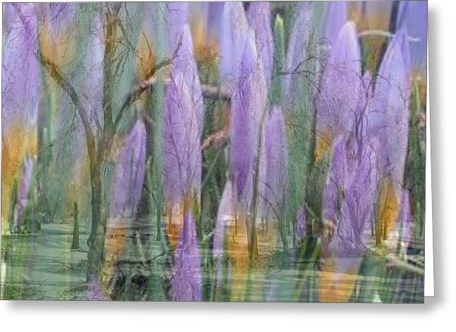 Weeping Flowers Greeting Card by PainterArtist FIN
