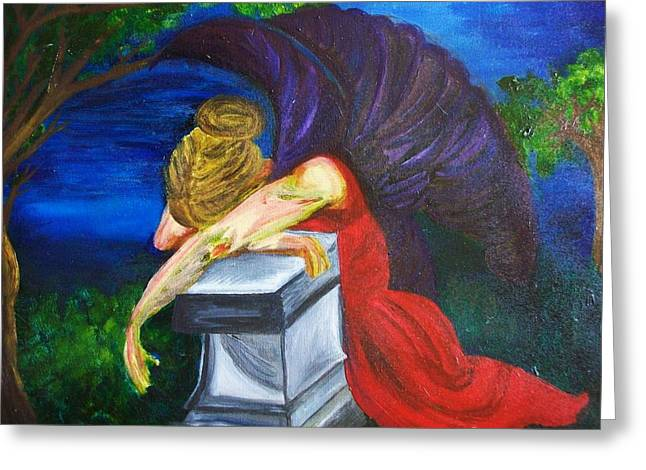 Weeping Greeting Card by Jennifer Churchill