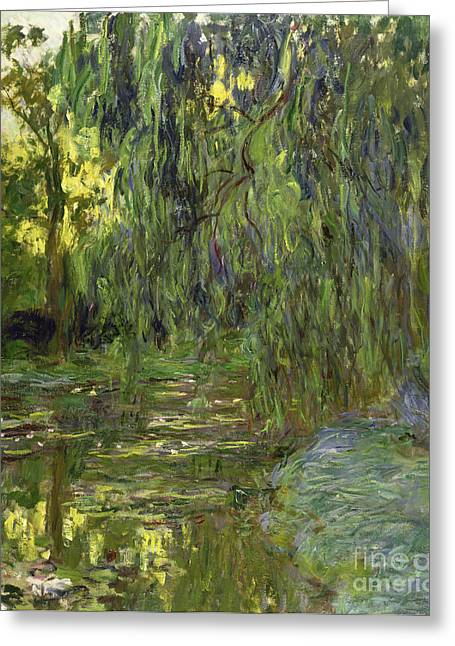 Weeping Willows The Waterlily Pond At Giverny Greeting Card