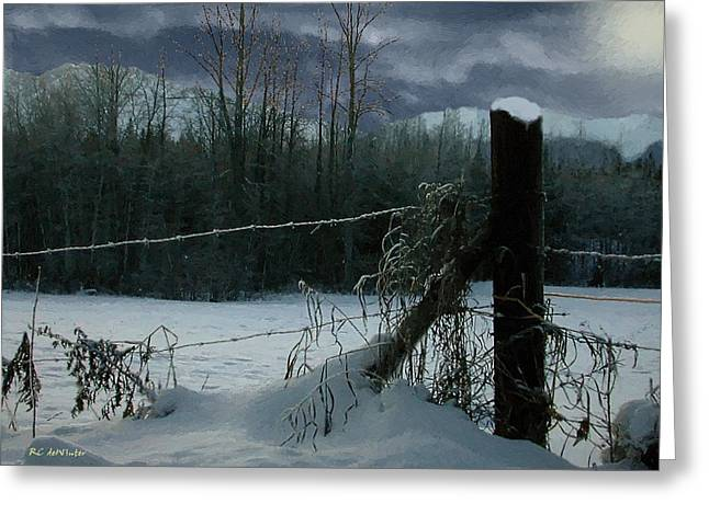 Weeping Winter Moon Greeting Card by RC deWinter