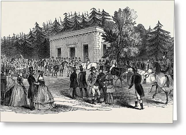 Weighing In, Goodwood Races 1844 Greeting Card