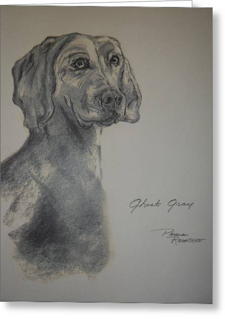 Weimaraner Greeting Card by Paula Rountree Bischoff