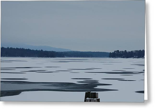 Greeting Card featuring the photograph Weirs Beach Nh Almost by Mim White