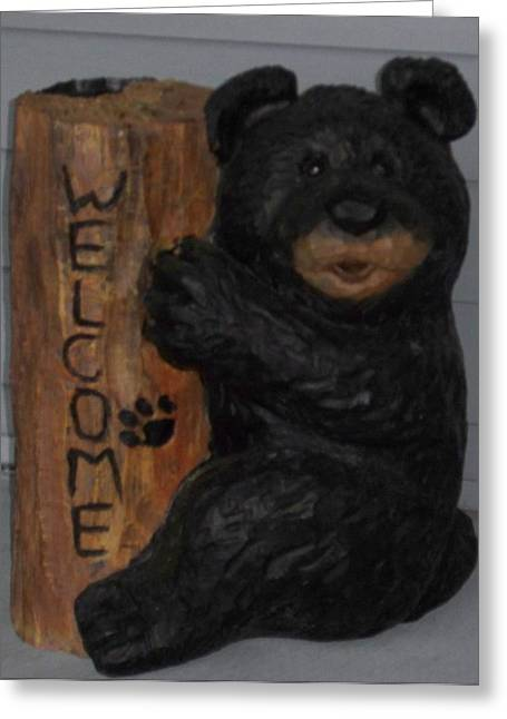 Welcome Bear Greeting Card