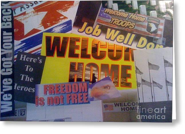 Welcome Home Greeting Card by Paula Talbert