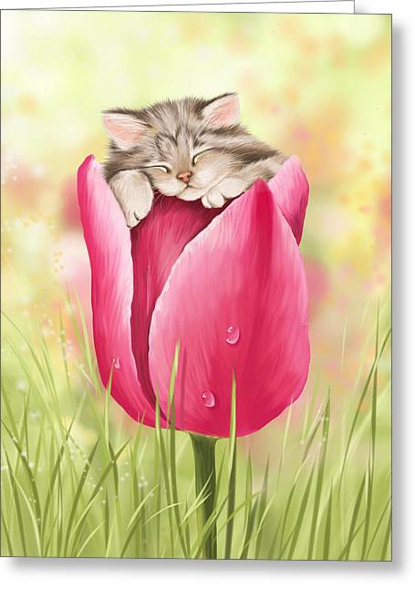 Welcome Spring Greeting Card by Veronica Minozzi