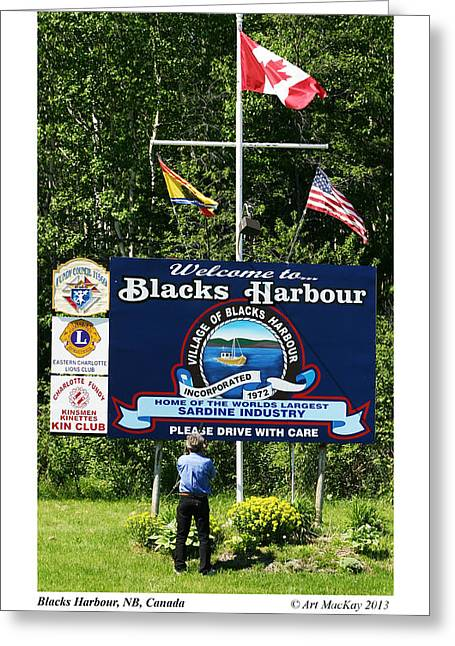 Welcome To Blacks Harbour Greeting Card