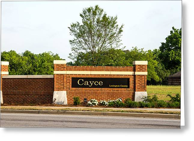 Welcome To Cayce Greeting Card