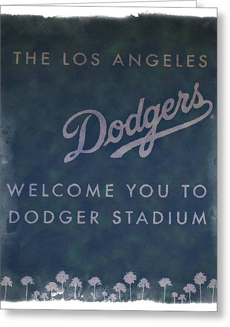 Welcome To Dodgers Stadium - Impressions Greeting Card by Ricky Barnard