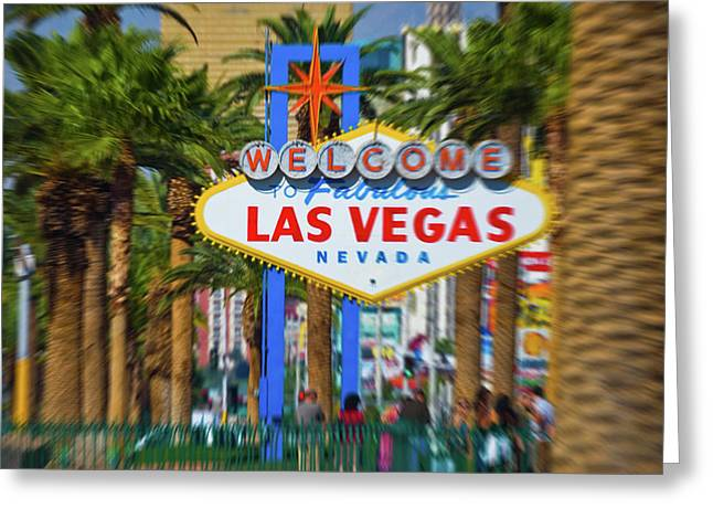 Welcome To Fabulous Las Vegas Nevada Greeting Card