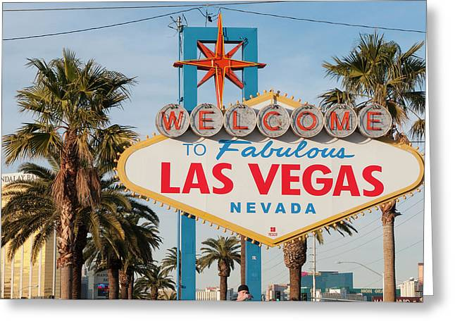 Welcome To Las Vegas Sign, Las Vegas Greeting Card