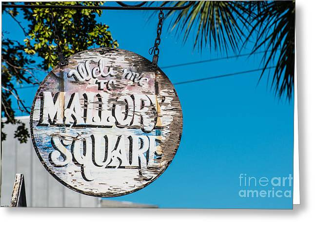 Welcome To Mallory Square Key West 2 Greeting Card