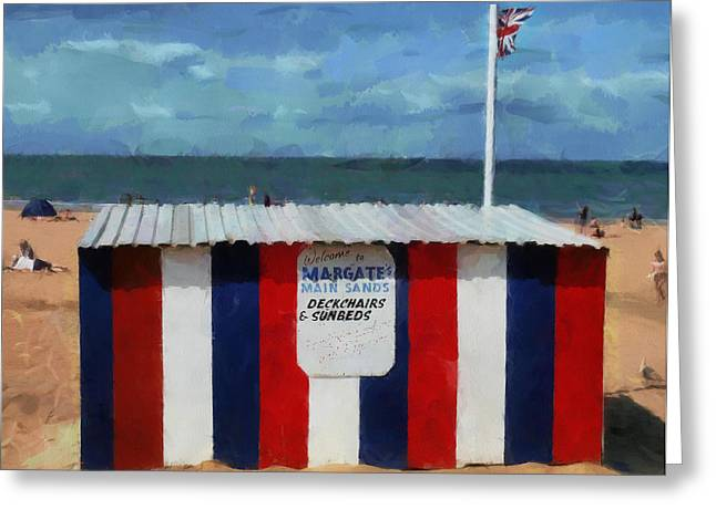 Welcome To Margate's Main Sands Greeting Card by Steve Taylor