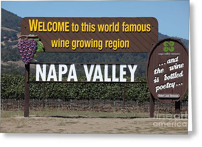 Welcome To Napa Valley California 5d29493 Greeting Card by Wingsdomain Art and Photography
