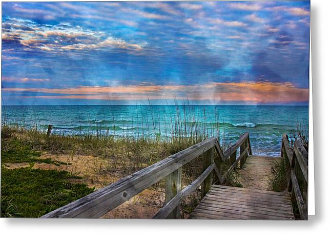 Welcome To Paradise Greeting Card by Betsy Knapp