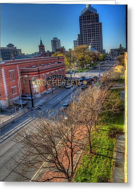 Welcome To Rochester Greeting Card by Tim Buisman